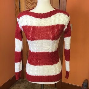 Vintage 70s sexy tight striped sweater